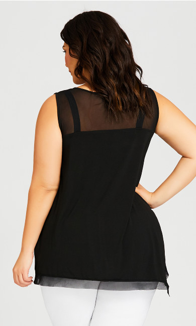 Emma Drape Glam Top - black