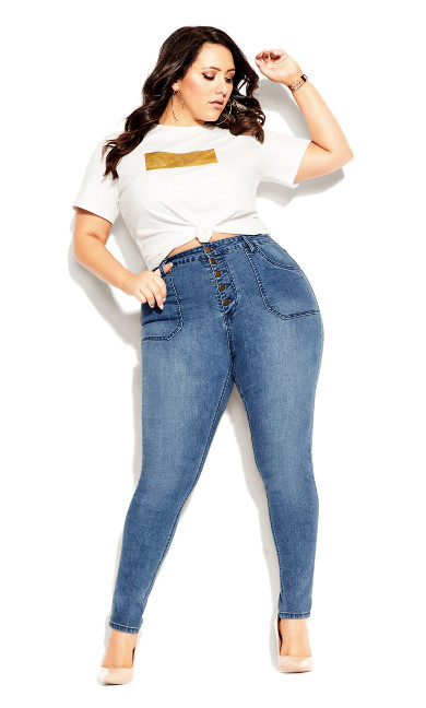 Plus Size Harley Strut It Out Jean - light wash