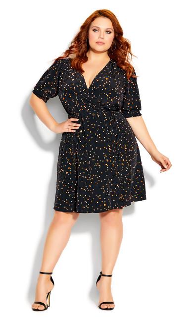 Plus Size Summer Spot Dress - black