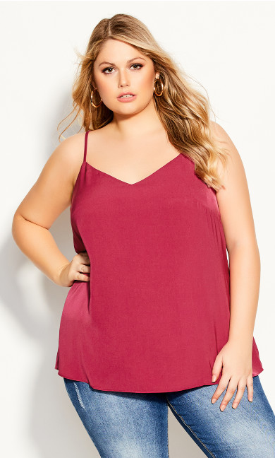 Plus Size Simply Sweet Cami - magenta