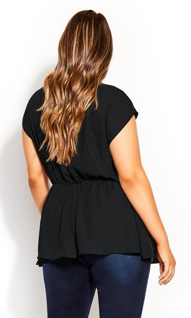 Simple Twist Top - black