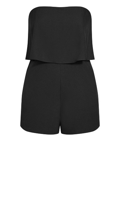 Overlay Playsuit - black
