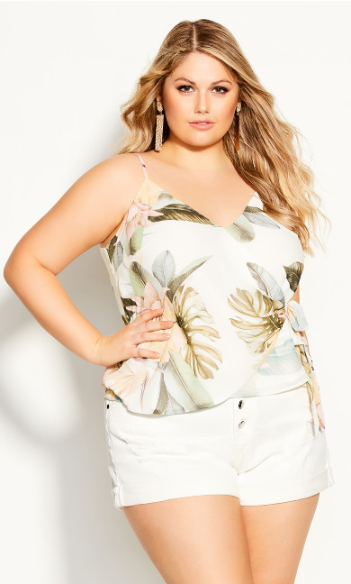 Plus Size Barbados Top - ivory