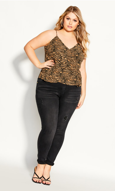 Plus Size Bengal Top - tiger print
