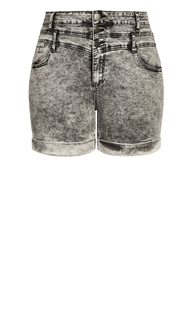 Short Hi Waist Short - acid wash