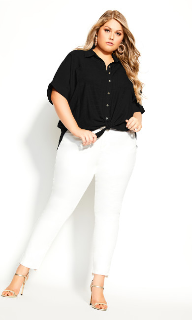 Plus Size Laid Back Shirt - black