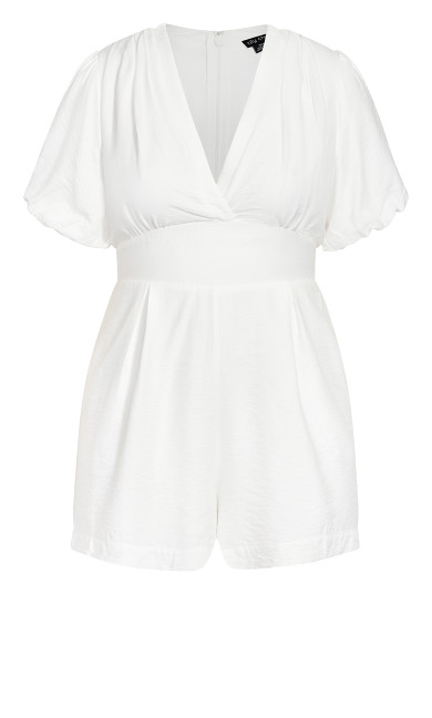 Sweet Sleeve Playsuit - ivory