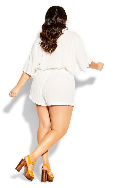 Metallic Playsuit - ivory