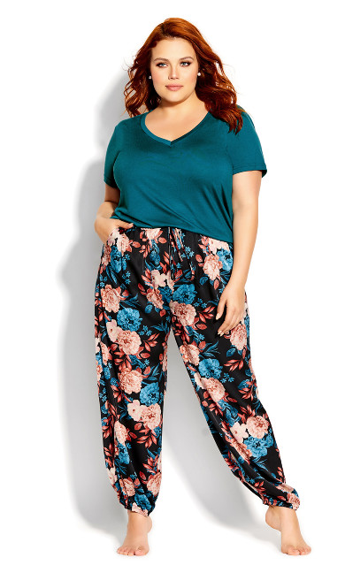 Plus Size Amy Sleep Pant - black