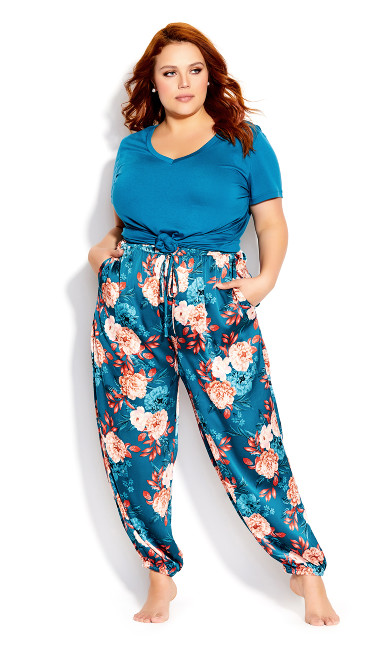 Plus Size Amy Sleep Pant - teal