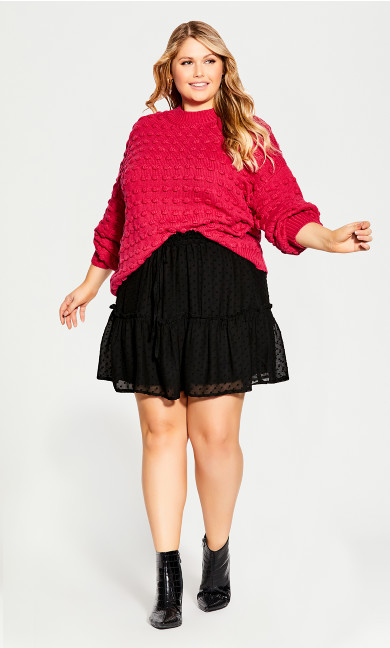 Plus Size Blair Dobby Skirt - black