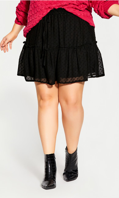 Blair Dobby Skirt - black