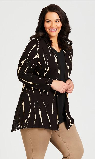 Jacey Print Jacket - black
