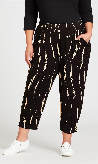 Ivy Print Pant - black