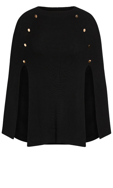 Olivia Button Cape - black