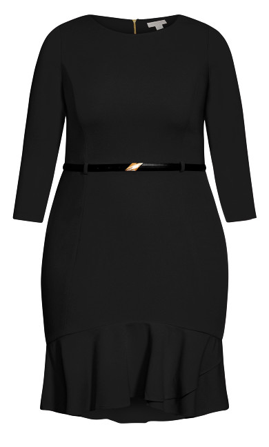 Alexa Belted Dress - black