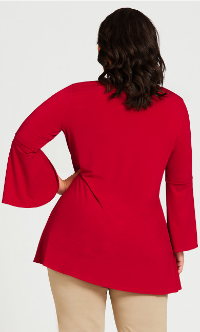 Emily Plain Top - red