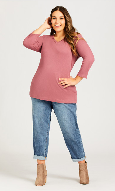 Plus Size Bailey Girlfriend Jean Light Wash - average