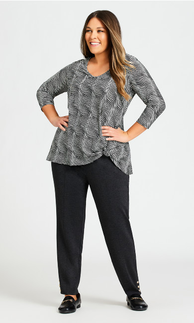 Plus Size Breanna Ponte Pant Charcoal - average