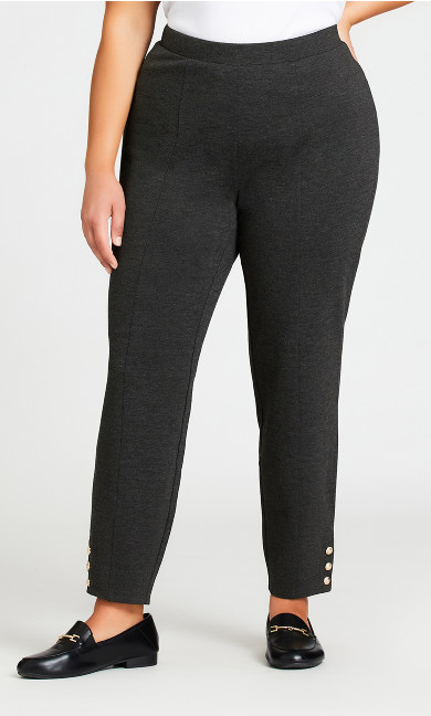 Breanna Ponte Pant Charcoal - average