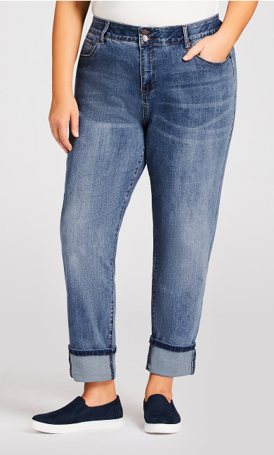 Tina Turn Up Jean Light Wash - average