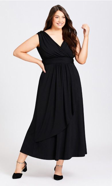 Plus Size Madeline Maxi Dress - black