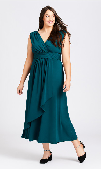 Plus Size Madeline Maxi Dress - teal