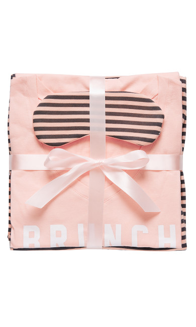 Brunch Club Sleep Set - pink