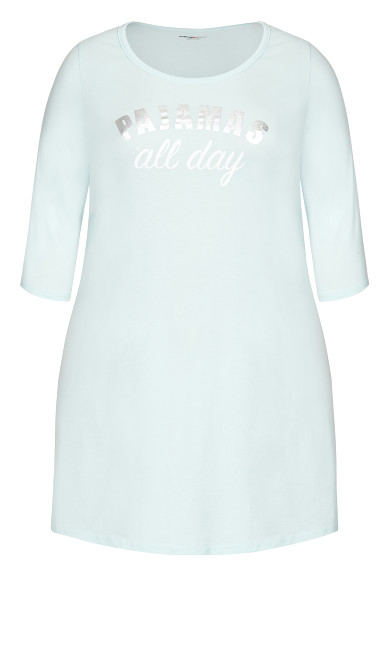 PJ's Sleep Shirt - pale blue