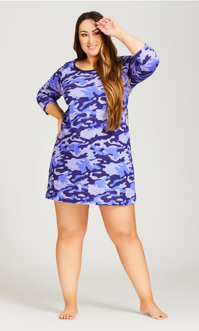 Plus Size Camo Sleep Shirt - camo