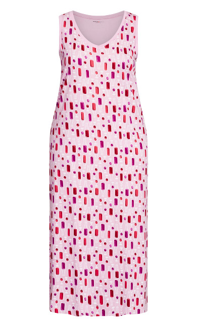 Wine Glass Maxi Dress - soft pink