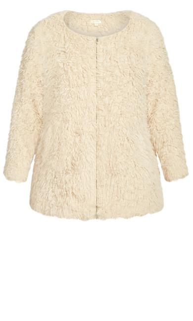 Lotus Fluffy Jacket - cream