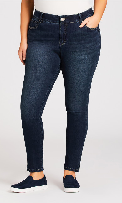 Beauty Skinny Leg Jean Dark Wash - average