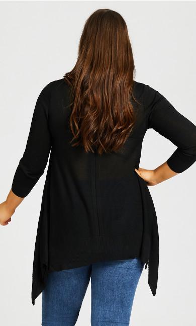 Ariel Tunic Sweater - black