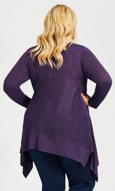 Ariel Tunic Sweater - plum