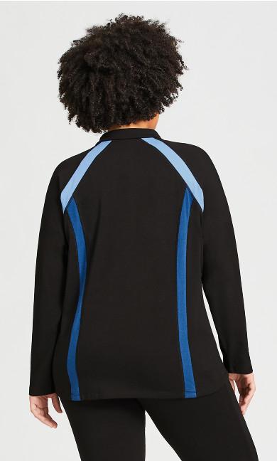 Color Block Jacket - black