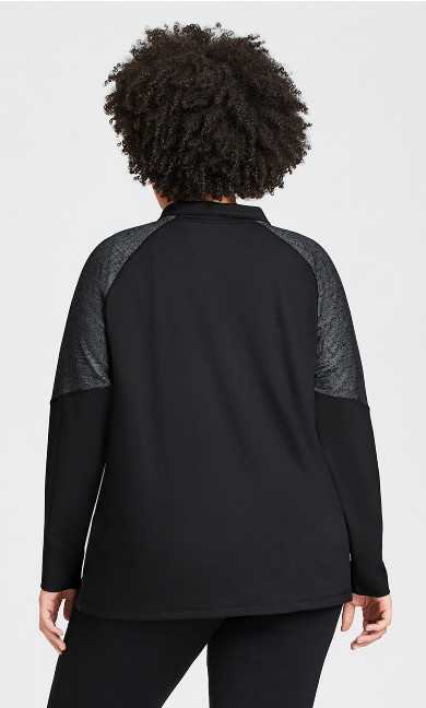 Mock Neck Jacket - black