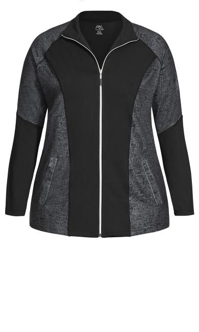 Mock Neck Jacket - black