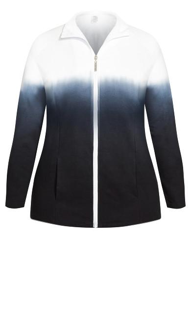 Dip Dye Jacket - black
