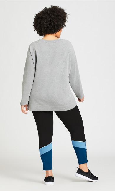 Legging Color Block Black Blue - average
