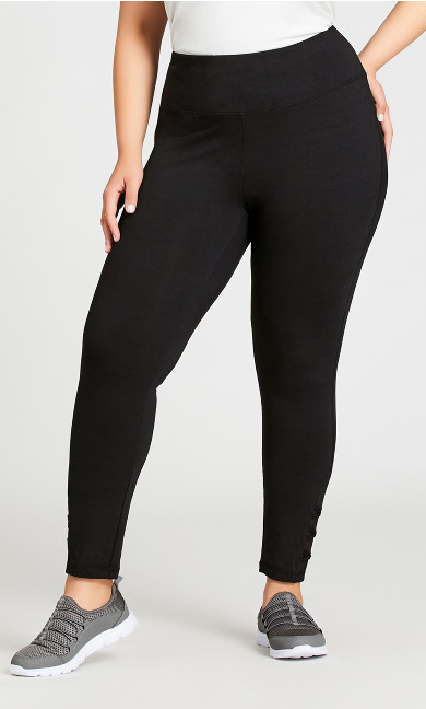 Legging Cross Detail Black - average
