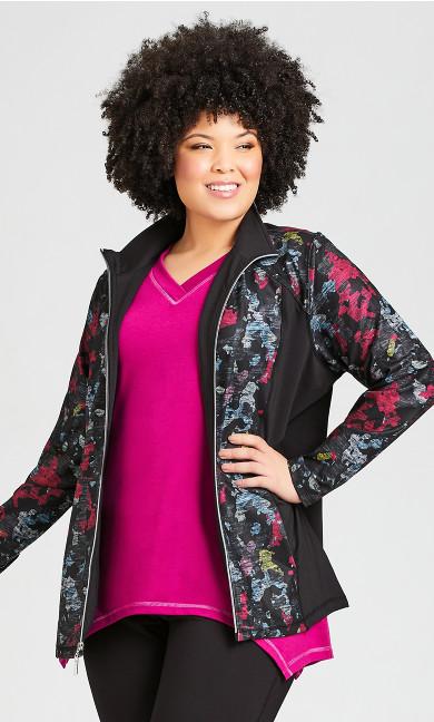 Plus Size Multi Camo Jacket - pink
