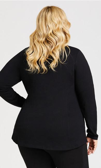 Zip Plain Jacket - black
