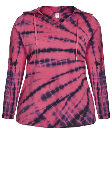 Tie Dye Top - hot pink
