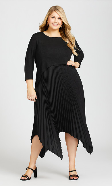 Plus Size Kimi Duet Dress - black