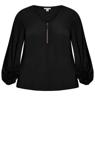 Jayda Zip Top - black