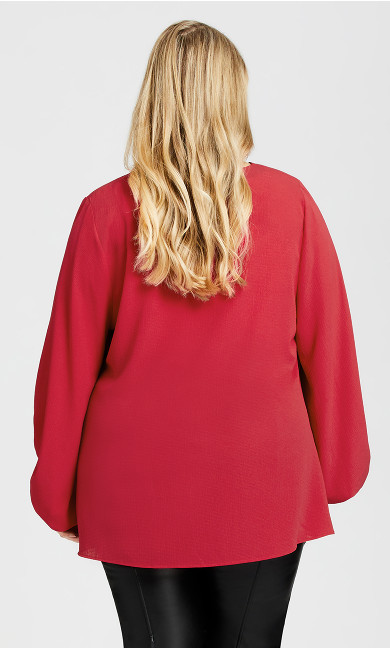Jayda Zip Top - raspberry