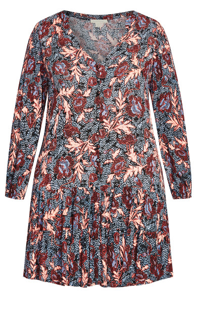 Jolie Dress - navy floral