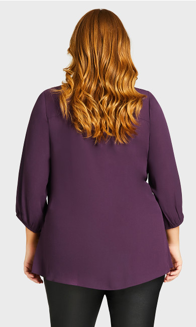 Meila Zip Top - plum