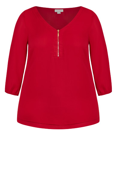 Meila Zip Top - red